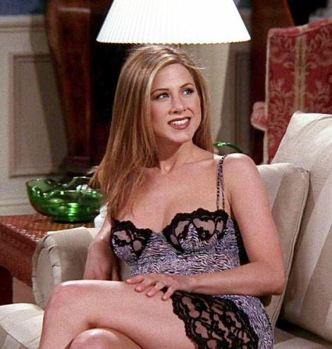 Jennifer Aniston interpretando a Rachel Green en la serie Friends