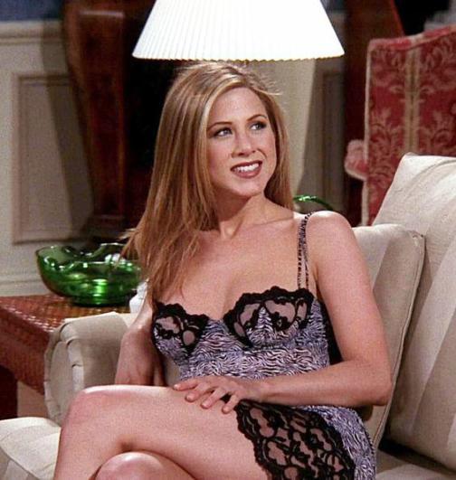 Jennifer Aniston interpretando a Rachel Green en la serie Friends