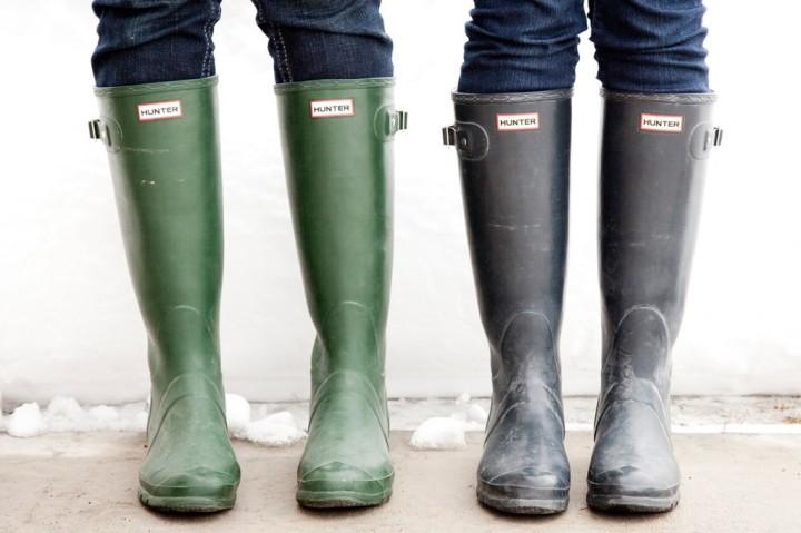 10 looks para usar con botas delluvia